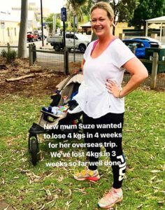 new mum lost 4 kgs in 4 weeks