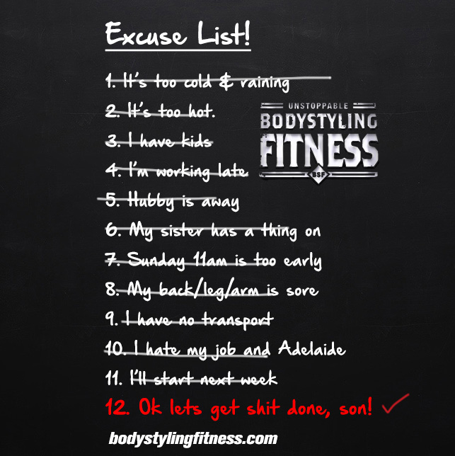 excuse list